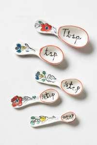 anthro Flowerpatch Measuring Spoons