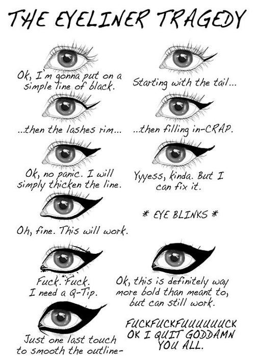 eyeliner tragedy