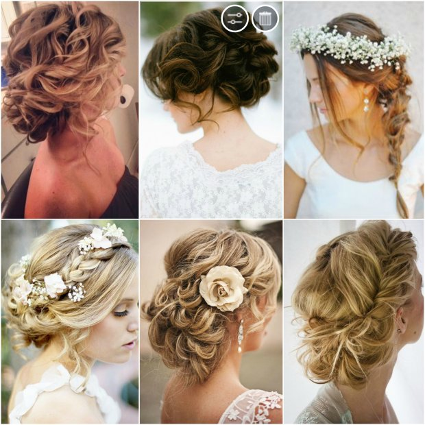 wedding hair Collage